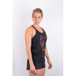Training tank black SCARRED WOLF for women - URBAN CROSS