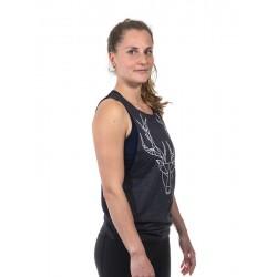 Training muscle tank dark grey POLYGON DEER for women - URBAN CROSS