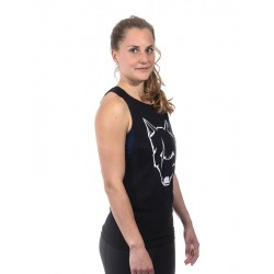 Training muscle tank black SCARRED WOLF for women - URBAN CROSS