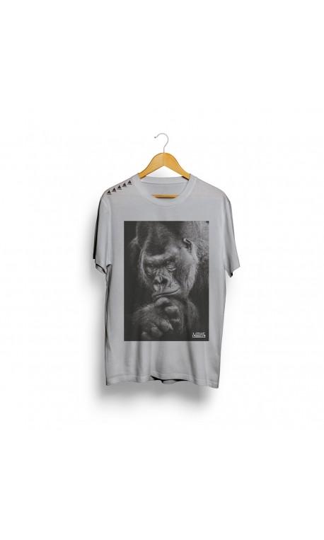 T-shirt white silver black for men - LITHE APPAREL