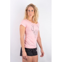 Training t-shirt pink POLYGON DEER for women - URBAN CROSS