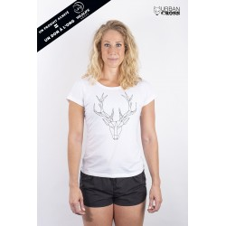 Training t-shirt white POLYGON DEER for women - URBAN CROSS