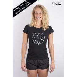 Training t-shirt black UNICORN for women - URBAN CROSS