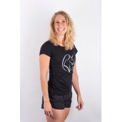 Training t-shirt black UNICORN for women - URBAN CROSS