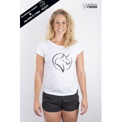 Training t-shirt white UNICORN for women - URBAN CROSS