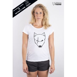 Training t-shirt white SCARED WOLF for women - URBAN CROSS