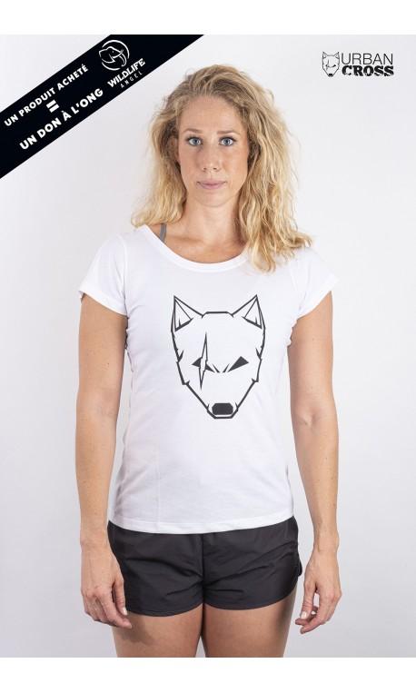 Training t-shirt white SCARED WOLF for women - URBAN CROSS