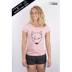 Training t-shirt pink SCARED WOLF for women - URBAN CROSS