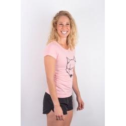 Training t-shirt pink SCARED WOLF for women - URBAN CROSS