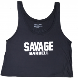 Training crop top SUICIDE SQUAD dark gray for women - SAVAGE BARBELL