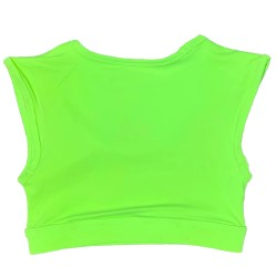 Brassière sport vert SOUR APPLE CROP TEE SPORT BRA pour athlète by SAVAGE BARBELL