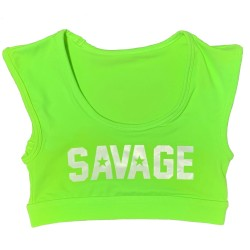 Training bra SOUR APPLE green CROP TEE SPORT for women - SAVAGE BARBELL