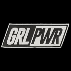 Patch pvc velcro GRL PWR noir pour athlète by SAVAGE BARBELL