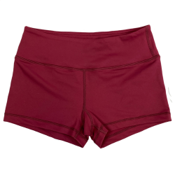 Short femme rouge BURGUNDY pour athlète by SAVAGE BARBELL
