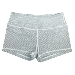 Short femme blanc MICRO STRIPE pour athlète by SAVAGE BARBELL