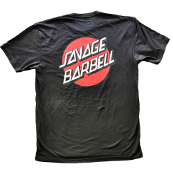 T-shirt black KELLY RETRO SAVAGE for men - SAVAGE BARBELL