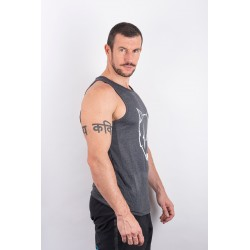 Training tank dark Grey SCARED WOLF for men - URBAN CROSS