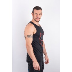 Training tank black SCARED WOLF for men - URBAN CROSS