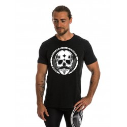T-shirt black MOVEMBER SKULL for men - NORTHERN SPIRIT