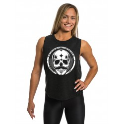 Training muscle tank black MOVEMBER SKULL for women - NORTHERN SPIRIT