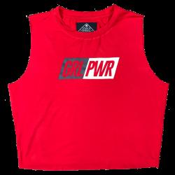 Débardeur large femme rouge GRL PWR pour athlète by SAVAGE BARBELL