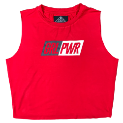 Training muscle tank red GRL PWR for women - SAVAGE BARBELL