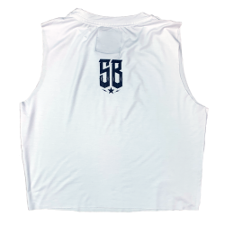 Training muscle tank white GRL PWR for women - SAVAGE BARBELL