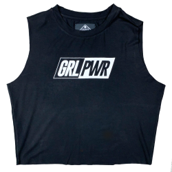 Training muscle tank black GRL PWR for women - SAVAGE BARBELL