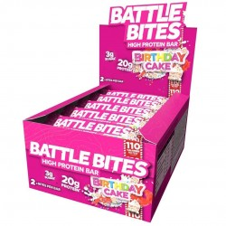 Pack of 12 protein bars + Birthday Cake - BATTLE OATS