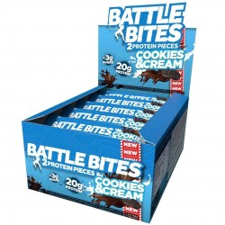 Pack of 12 protein bars + Cookies and Cream - BATTLE OATS