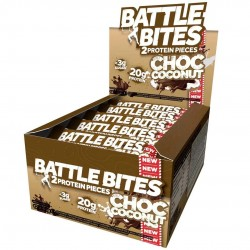 Pack of 12 protein bars + Choc coconut | BATTLE SNACKS