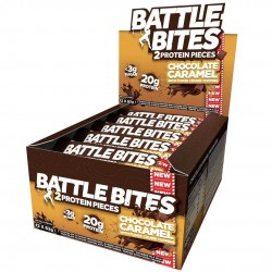 Pack of 12 protein bars + chocolate Caramel | BATTLE SNACKS