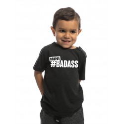 T-SHIRT kid Noir MINI BADASS pour little athlète by NORTHERN SPIRIT