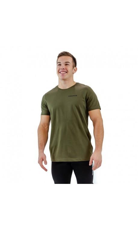 T-shirt green khaki BIO for men - THORUS
