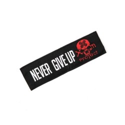 Patch broderie velcro NEGER GIVE UP pour athlète by XOOM PROJECT