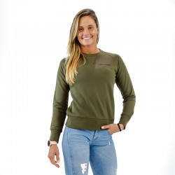 Sweat-shirt green khaki BIO for women - THORUS