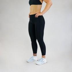 Legging Femme noir STEALTH BLACK 7/8 pour Athlète by WODABLE