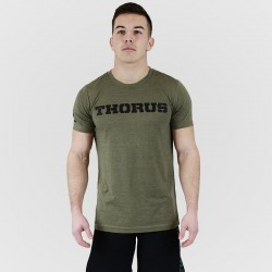 T-shirt green khaki Classic for men - THORUS