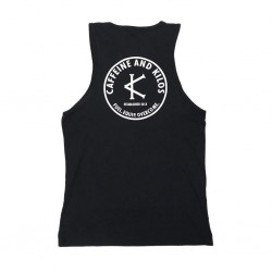 Tank black SENDERS for men - CAFFEINE AND KILOS