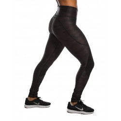 Legging Femme Noir CAMOUFLAGE pour Athlète by NORTHERN SPIRIT