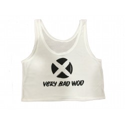 Training crop top white ORIGINAL for women | VERY BAD WOD