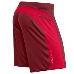 Training short red CHERRY HELIX II for men| HYLETE
