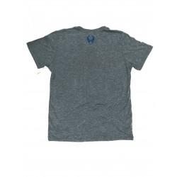 T-Shirt Homme Gris TRIBLEND CREW HEATHER GRAY AGEAN  HYLETE