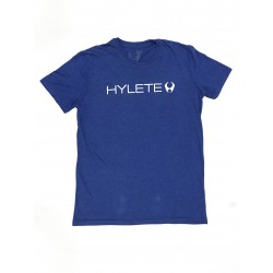 T-shirt blue TRIBLEND CREW VINTAGE ROYAL BLACK for men| HYLETE