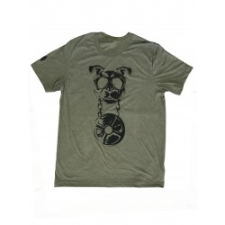 T-shirt green khaki CANIWOD for men | VERY BAD WOD