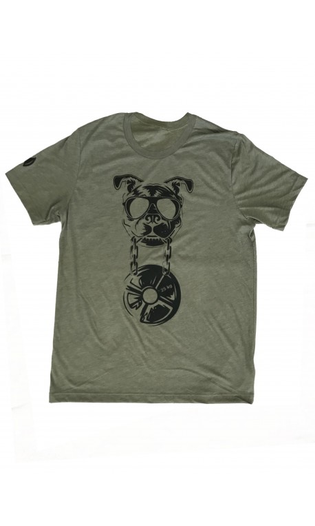 T-shirt green khaki CANIWOD for men | VERY BAD WOD