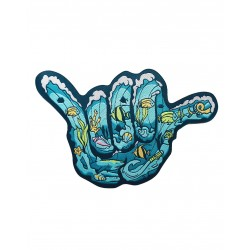 Velcro blue woven patch MAUI MOANA SHAKA | PROJECT X
