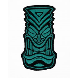 Velcro teal embroidered patch TIKI | PROJECT X