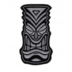 Patch Velcro brodé gris TIKI | PROJECT X