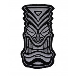 Velcro grey embroidered patch TIKI | PROJECT X